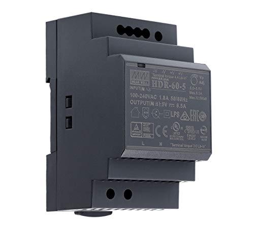 5 VDC   6,5 A   32,5Watt   Mean Well HDR-60-5 Hutschienen-Netzteil DIN-Rail