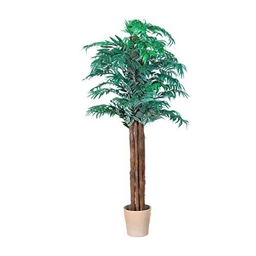 PLANTASIA® Areca-Palme, Goldfruchtpalme, Echtholzstamm, Kunstbaum, Kunstpflanze, Kunstpalme - 180 cm, Schadstoffgeprüft