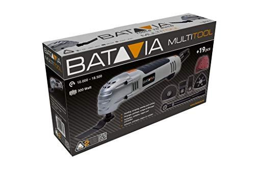 Batavia 7062387 300W Multitool inklusiv 19-tlg. Zubehör, 300 W, Grau/Orange