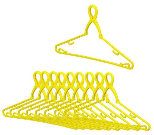 アーネスト 【日本製】 洗濯ハンガー 10個セット (強力グリップ/洗濯ロープ対応) 幸福の黄色いハンガー スッポンハンガー 大手飲食店愛用ブランド A-75161