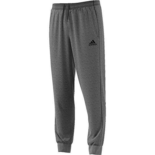 adidas Men Core 18 Pants - Dark Grey Heather/Black, M