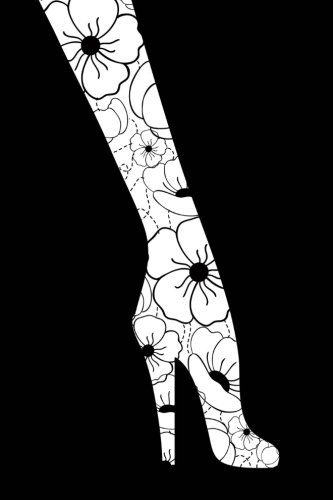 Leggings: Floral Legs and High Heels - 150 Pages Lined Journal / Notebook