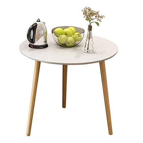 JINKEBIN Mesa plegable de roble, para pasillo de café, vino, pasillo, mesa pequeña, mesa auxiliar decorativa (tamaño redondo, 60 x 60 x 50 cm)