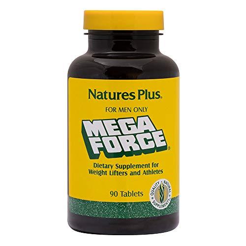 NaturesPlus Mega Force Multivitamin for Men - 90 Tablets - Multivitamin & Mineral Supplement Enhanced for Weight Lifters & Athletes - Gluten-Free - 30 Servings