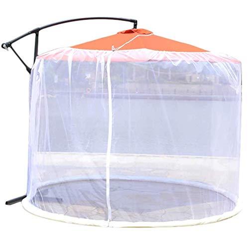 GANG Pantalla de Mosquitos de Cubierta de Paraguas Blanca, Paraguas de Jardín Al Aire Libre Pantalla de Mesa Parasol Cubierta de Neta de Mosquitera, 300X230Cm Cubierta de Gabinete d