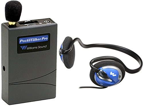 Williams Sound PKT PRO1-H26 Pocketalker PRO System Amplifier with HED 026 Rear-Wear Mono Headphones, 100 hours of battery life, Adjustable volume control/internal tone control