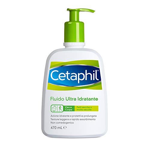 Cetaphil RESTORADERM D.A., Dermatite Atopica, Fluido Ultra Idratante, Crema Viso e Corpo per Pelle Secca o Molto Secca, Senza Profumo, Formato 470 ml
