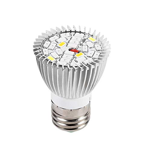 Växtodlingslampa, Akozon Full Spectrum E27 Led-odlingslampa för inomhusväxter Grönsaker och plantor