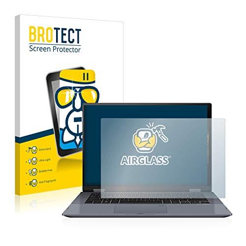 BROTECT Protector Pantalla Cristal Compatible con ASUS VivoBook Flip 14 TP412UA Protector Pantalla Vidrio - Dureza Extrema, Anti-Huellas, AirGlass