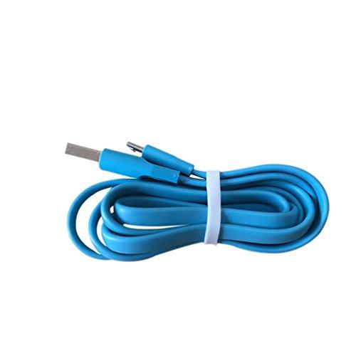 Meijunter USB Aufladungskabel Kabel Charging Cable Power Cord Schnur Ladegerät Charger 1M für Logitech UE Boom/Boom2/Megaboom/Miniboom/Roll/W18/W100/W300 Color Blue