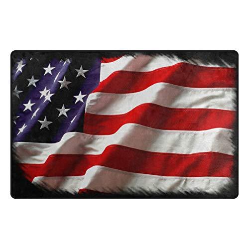 MALPLENA USA Flagge Eintrag Way Fußmatte Fußmatte Bereich Teppich Bodenmatten Schuhe Schaber für Wohnzimmer/Esszimmer/Schlafzimmer/Küche Rutschfeste, Polyester, 2, 60 x 39 inch