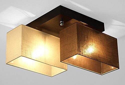Wero Design Deckenlampe Deckenleuchte Leuchte-VITORIA-006 Mix Creme/Braun Transparent