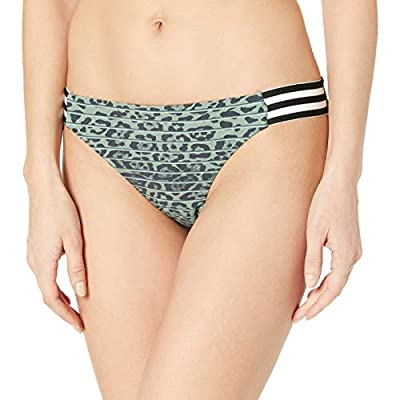 BCBGeneration Women's Side Tab Hipster Bikini Swimsuit Bottom, Olive//Under The Radar, M
