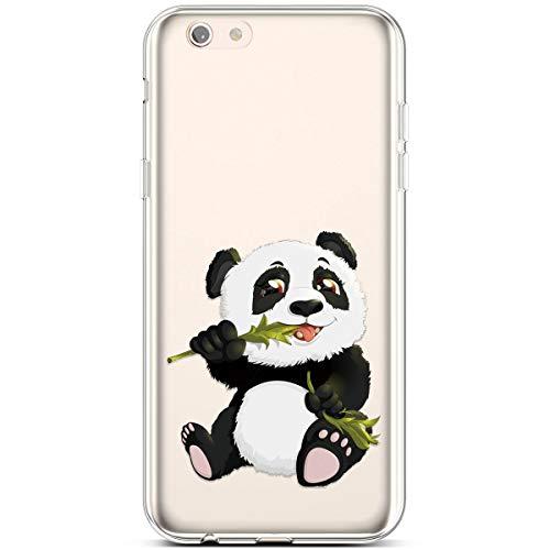wanhonghui Jinghuash Funda Transparente Compatible con iPhone 6/6S Plus,Suave TPU Silicona Gel Bumper Carcasa Claro Clear Ultra-Delgado Anti-Arañazos Protectora Funda,Pintado Divertido Serie