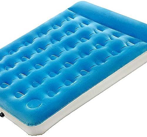 WYJW Pompe intégrée à Matelas Gonflable avec Oreiller Flocage de draps gonflables lit Populaire lit Double déjeuner extérieur lit Gonflable