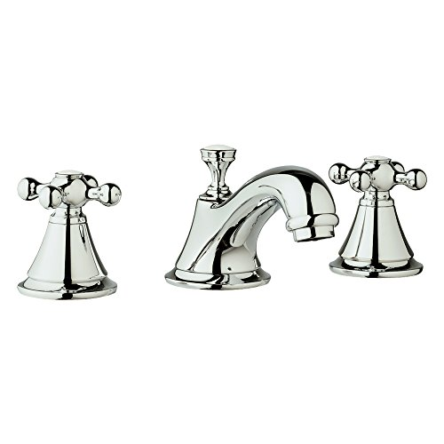 Grohe K20800-18731-00E-2 Seabury Lavatory Faucet Kit with Cross Handle, Starlight Chrome