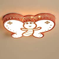 HJW 便利な創造的な蝶シャンデリア子供の寝室の暖かい装飾的な装飾的な具体的な装飾的な装飾的な具体的な装飾的な装飾的な装飾が導かれましたかわいい天井の光,赤,60Cm