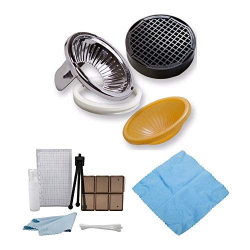 Gary Fong Lightsphere Flash Diffuser Dome Kit with Cleaning Cloth and Accessory Bundle (3 Items)