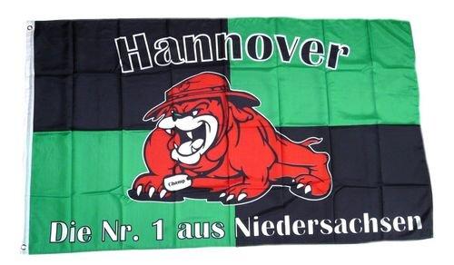 Fahne / Flagge Hannover Bulldogge Fan NEU 90 x 150 cm
