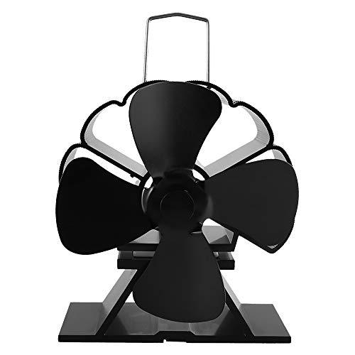 Kaminventilator Ofenventilator,Kamin Lüfter Ventilator Kaminöfen Stromloser mit 4 Flügel Rotorblätter Powered Ofen Fan, Umweltfreundlich,für Herde,Holzofen & Kaminen