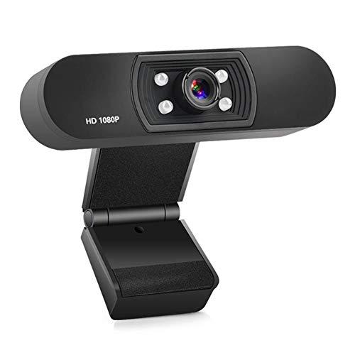 1080P HD Webcams, Draaibare Desktop Laptop Webcam, USB Mini Webcam met Ingebouwde Microfoon, Live Streaming Camera voor Videobellen En Opnemen, Flexibele Standaard