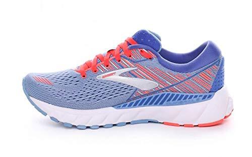 Brooks Women's Adrenaline Gts 19 Running Shoes, Blue (Grey Beluga Air Blue/Coral/Silver 467), 3.5 UK
