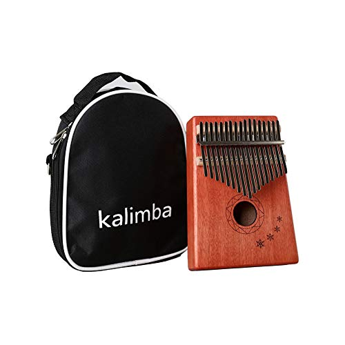 XuBa ACHICOO 17 Schlüssel Mbira Calimba Afrikanisches Mahagoni Daumen Klavier Holz Musikinstrument Schneeflocke englische Version