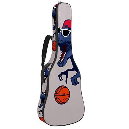 Bolsa para guitarra impermeable con cremallera suave para guitarra, bajo, acústico y clásica, para guitarra eléctrica, diseño de dinosaurio, baloncesto