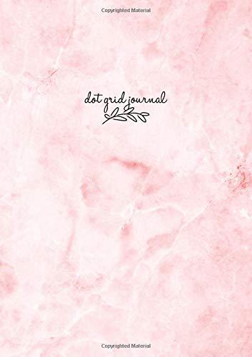 Dot Grid Journal: Marble Pink Dot Grid Notebook, Notizbuch A5 Dotted, Punktraster Notizbuch A5, Gepunktetes Notizbuch, Tagebuch, Agenda Buch, Design ... Buch, Deutsch ... 120 Seiten (Punktpapier)