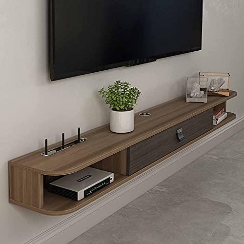Mueble de TV Flotante, Mueble TV de Pared multifunción mate con compartimentos de almacenamiento, para sala de estar dormitorio/A/Los 140CM