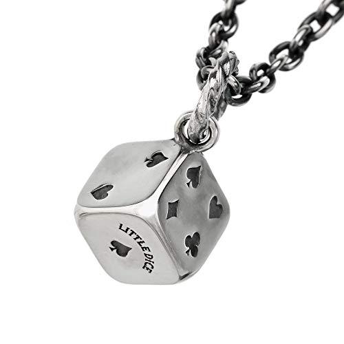 LITTLE DICE(リトルダイス) ネックレス メンズ ブランド リトル トランプ ダイス ペンダント シルバーアクセサリー サイコロ (45cmチェーン付き)