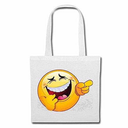 Bolsillo Bolso Bolsa Divertido ruidoso RISA SONRIENTE SMILEYS LOS SMILIES ANDROID IPHONE EMOTICONOS IOS sonrisa la cara del emoticon APP Bolsa de deporte Bolsas de Blanco