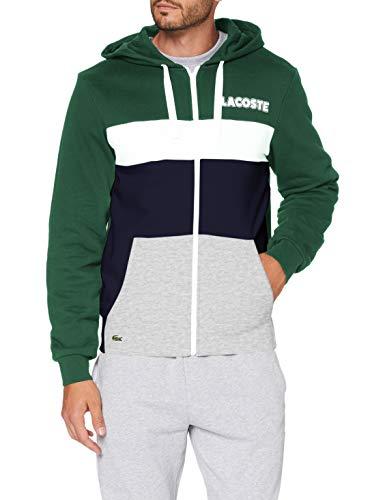 Lacoste Herren SH1506 Pullover, Vert/Marine-Argent Chine, 11