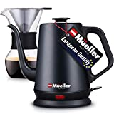 Mueller Coffee Serving Set Electric Gooseneck Kettle with Pour Over Drip Set Coffee Maker, Stainless Steel Coffee Servers Kettle & Tea Kettle, Matte