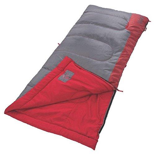 Coleman Bannack 50 Degree Sleeping Bag - Red/Gray