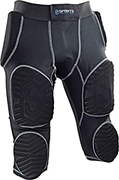 Sports Unlimited Adult 7 Pad Integrated Football Girdle - Flex Thigh Pads