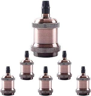 Edison - Portalámparas para lámpara de techo, casquillo E27, 6 unidades