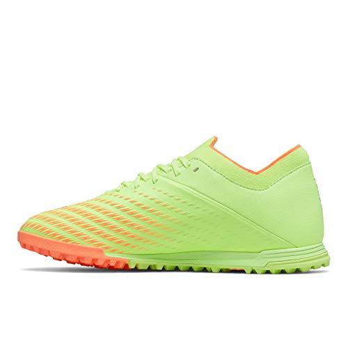 New Balance Men's Furon Dispatch TF V7 Soccer Shoe, Bleached Lime Glo/Citrus Punch, 10 Wide