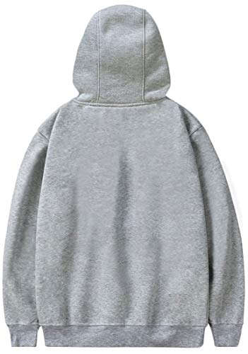MINIDORA Women's Hoodie Shingeki no Kyojin Printed Sweatshirt Attack on Titan Hooded for Japanese Anime Fans XXS,Gray 17014
