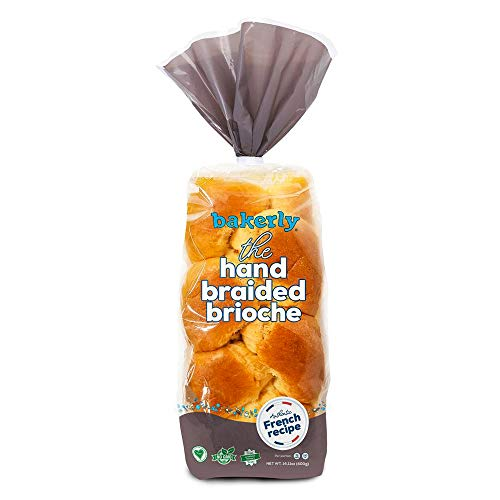 bakerly Hand Braided Brioche Pack of 2, 1-Count (2 Total Hand Braided Brioche Loaves)
