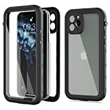 iPhone 11 Pro Waterproof Case,Built-in Screen Protector IP68 Waterproof Shockproof Dustproof Snowproof Full-Body Rugged Cover for Apple iPhone 11 Pro 5.8 inch (Black/Clear)