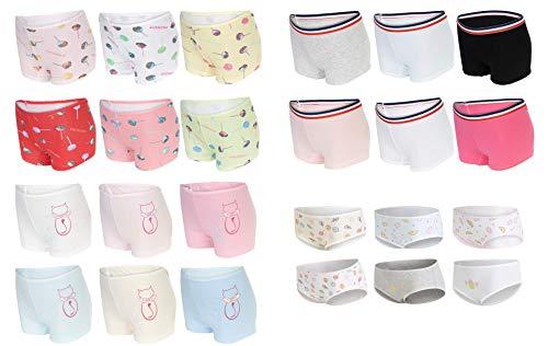 SG-WEAR 6er Pack Kinder-Unterhosen für Mädchen Slips & Pantys/sportliche Hipster Shorts mit hohem Baumwollanteil Kinderunterhosen/Unterwäsche für 2-4, 5-7, 8-10, 11-12 Jahre (5-7 Jahre, Motiv 3)