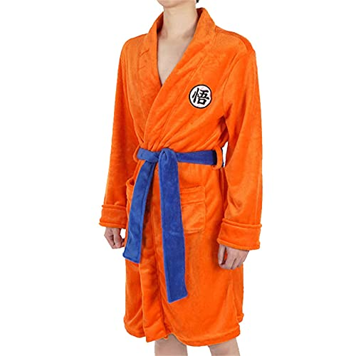Adults Kids Teens Dragon Ball Z Clothes Anime Cosplay Costume for Son Goku, Goku Bathrobe for CostumesSet Outfit Halloween Party Anime Themed Party (XL)
