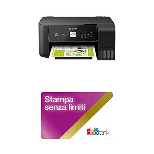 EcoTank ET-2720 3-in-1 Stampante con LCD da 3.7 cm, Stampa, Copia e Scansione, Connettività Wi-Fi e App, con Unlimited Printing Card