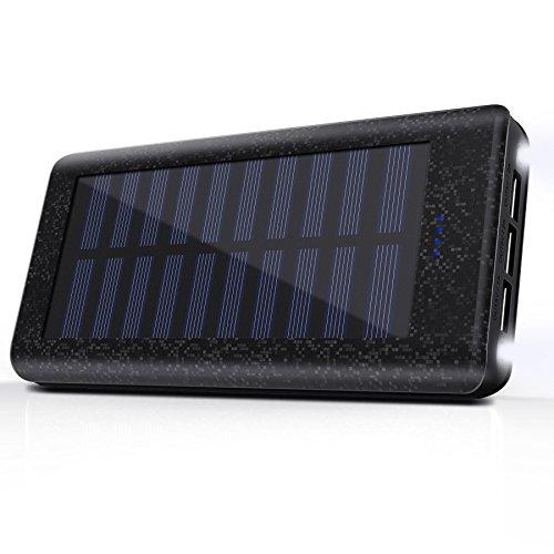 Caricatore Portatile Solare Power Bank, Caricabatterie 24000mAh...