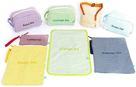 Easy Baby Diaper Bag Organizer Tote Pouches Organizer Seersucker Pack of 8 product image