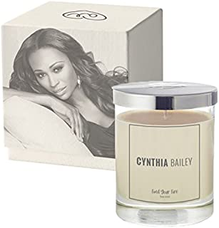 Orgavic CYNTHIA BAILEY Aromatherapy Soy Scented Candles Essential Oils (Tea Rose Petals,6OZ)