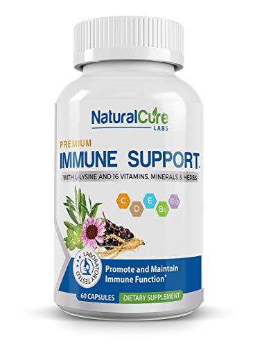 Natural Cure Labs Premium Immune Support, 60 Capsules