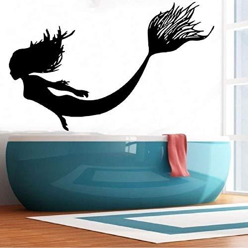 Ajcwhml Vinyl Dekoration wandaufkleber schöne Segel Marine natürliche Fisch kinderzimmer Dekoration wandbild 36X57 cm