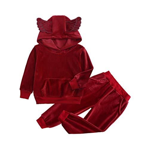 junkai Ropa Niños Conjuntos Niños Disfraces Invierno Ropa Niños Ropa Niños Pequeños Conjuntos Ropa Niños Bebés Trajes Deportivos Algodón Niñas